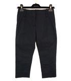 ボトムス カプリパンツ クロップドパンツ 無地 ストレッチ コットン 綿 ブラック 黒 サイズ34 フランス製 タグ付