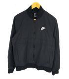 ナイキ NIKE CE プレイヤーズ ウーブン ジャケット 上着 アウター ブルゾン ジップアップ ワンポイント ロゴ刺繍 ポケット コットン混 綿 CU4312-010 ブラック系 黒 S