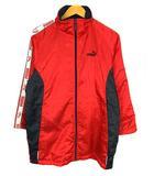 上着 アウター 裏フリース ハーフコート ウインドブレーカー ジップアップ 袖ロゴ 中綿 822823 レッド 赤 ブラック 黒 ホワイト 白 サイズ150cm 子供服 ジュニア
