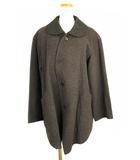 ヨーガンレール JURGEN LEHL コート 上着 アウター ウール アンゴラ混 シルク混 丸襟 チャコールグレー系 M