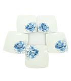 ヒロココシノ HIROKO KOSHINO x ニッコー NIKKO 料理皿 角皿 5枚セット 花柄 中皿 スクエアプレート 食器 ファインボーンチャイナ 白 ホワイト S07904
