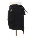 ミハラヤスヒロ MIHARA YASUHIRO メゾン Maison 17AW エプロン apron リネン混ウール ウエスト巻き 日本製 F 黒 ブラック S07453