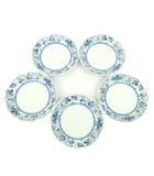 ヒロココシノ HIROKO KOSHINO x ニッコー NIKKO 丸皿 深皿 5枚セット ファインボーンチャイナ 食器 パスタ皿 洋食器 S08046