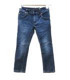 リー LEE RIDERS デニム パンツ ボトムス キッズ 男の子 女の子 100 ストレッチ ウエストゴム ジーンズ 青 ブルー Y09109