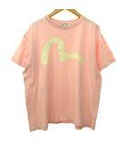 エヴィス EVISU Tシャツ 半袖 カモメプリント クルーネック カットソー 40 ピンク S09870