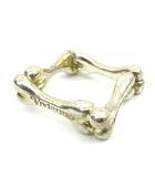 ヴィヴィアンウエストウッド Vivienne Westwood 指輪 4ボーン リング SV925 スクエア 骨 モチーフ アクセサリー 10~11号 シルバー S10630