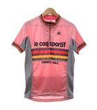 ルコックスポルティフ Le coq sportif サイクリング シャツ 半袖 アルカンシェル ハーフジップ 自転車 ウエア ロゴ プリント ルーズフィット M ピンク R11157