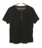ビズビム VISVIM SUBLIG HENLEY S/S SUNSHINE Tシャツ カットソー 半袖 ヘンリーネック 柄パイピング コットン 2 黒 ブラック R11349