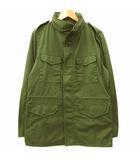 無印良品 良品計画 M-65 ジャケット ミリタリー 薄手 コットン L カーキ 緑 グリーン R12493