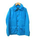 バブアー Barbour ビデイル ノンオイルド ジャケット カバーオール ステンカラー 1301001 ワーク コート 比翼ボタン M 青 ブルー ターコイズ K12472