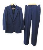 ピエールカルダン Pierre Cardin 3ピース スーツ フォーマル 3点セット ベスト ストライプ ビジネス ウール Y-4 紺 ネイビー R13205