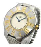 カルティエ Cartier must de マスト21 ヴァンテアン 腕時計 クォーツ ステンレスバンド 02266 マットシルバーxゴールド K13804