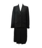 東京イギン シボン ブラックフォーマル スカート スーツ 膝丈 セットアップ テーラードジャケット 喪服 9 黒 ブラック R120926