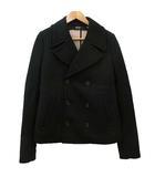 ヌメロヴェントゥーノ N°21 ネオプレーンジャケット Pコート ショート丈 ダブルブレスト 46 黒 ブラック イタリア製 R040616