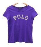 ポロ ラルフローレン POLO RALPH LAUREN Tシャツ カットソー 半袖 ロゴ コットン クルーネック 140 紫 パープル 国内正規 R041029