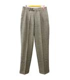 クリスチャンディオール Christian Dior Sports パンツ スラックス グレンチェック タック ストレート ウール 79 グレー 国内正規 IBS62 R070818