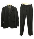 リチャードジェームス RICHARD JAMES スーツ セットアップ 上下 セットアップ シングル 2B 総裏地 ビジネス フォーマル S 黒 ブラック NVW R071703