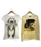 フォーティーンス アディクション14th Addiction & L.G.B BEDROCK Tシャツ 2点セット ロンT 長袖 カットソー 半袖 ロゴ バックプリント カットオフ 1 ベージュ 白 ホワイト C071723