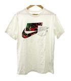 ナイキ NIKE AS M NSW TEE NSW 3 Tシャツ カットソー 半袖 ロゴ プリント コットン クルーネック 胸ポケット M 白 ホワイト SEJ R091301