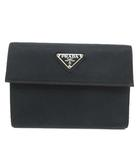 プラダ PRADA 三つ折り財布 M510 ナイロン フラップ TESSUTO ギャラ付 イタリア製 NERO 黒 ブラック S020702