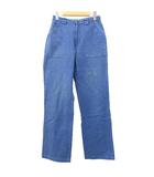 アニエスベー agnes b. ベイカーパンツ ワークパンツ ヴィンテージ ストレート ウエストゴム L 青 ブルー NVW R031508