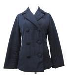 ジュンコシマダパート2 JUNKO SHIMADA part2 Pコート 中綿 ジャケット ブルゾン ショート丈 9AR 紺 ネイビー R040607