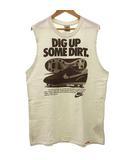 ナイキ NIKE タンクトップ ノースリーブ Tシャツ DIG UP SOME DIRT. ロゴ プリント クルーネック コットン L アイボリー R051518