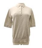 スティーブンアラン Steven Alan COTTON POLO KNIT ニット ポロシャツ カットソー 五分袖 コットン F ベージュ NVW R072403