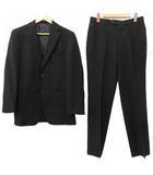ビサルノ VISARUNO スーツ セットアップ シングル2B 背抜き ビジネス フォーマル Sサイズ相当 黒 ブラック NVW R072424