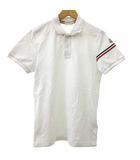 モンクレール MONCLER MAGLIA POLO ポロシャツ 半袖 ロゴパッチ トリコロール コットン S 白 ホワイト 国内正規 R083113