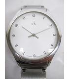シーケーカルバンクライン ck Calvin Klein 腕時計 クオーツ 2針 白文字盤 SS D5709