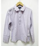 バーバリーゴルフ BURBERRY GOLF ポロシャツ M 薄紫 パープル 長袖 ゴルフウエア D5890