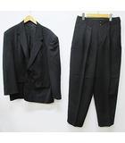 ワイズフォーメン Y's for men スーツ セットアップ M L 黒 ブラック シングル 2ボタン 総裏 D6435