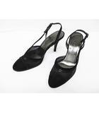 シャネル CHANEL パンプス 36 23cm 黒 ブラック メッシュ ココマーク 婦人靴 D6675