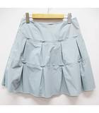 フォクシーニューヨーク FOXEY NEW YORK スカート 美品 40 水色 ティアード フレア D6685