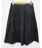 マーガレットハウエル MARGARET HOWELL スカート 1 紺 ネイビー フレアー タック D6709 ロング