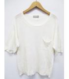 マーガレットハウエル MARGARET HOWELL ニット セーター 2 クリーム 半袖 麻 D6713