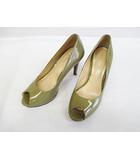 コールハーン COLE HAAN パンプス 美品 6B 23cm ベージュ エナメル 婦人靴 NIKE AIR D6734