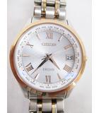 シチズン CITIZEN 腕時計 エクシード 美品 クオーツ H149-T021735 エコドライブ 電波 チタン D6747