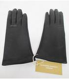 キャサリンハムネットロンドン KATHARINE HAMNETT LONDON 手袋 グローブ 20cm 黒 羊革 ブラック D7298 秋冬