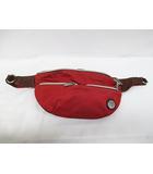 オロビアンコ OROBIANCO ボディバッグ ショルダーバッグ 赤 レッド ナイロン レザー D7597
