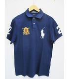 ポロ ラルフローレン POLO RALPH LAUREN ポロシャツ M 紺 ネイビー 半袖 刺繍 D7613