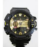 カシオジーショック CASIO G-SHOCK 腕時計 クオーツ GBA-400 ブルートゥース G'MIX ショックレジスト 黒 ゴールド D7635