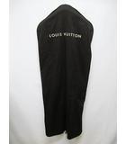 ルイヴィトン LOUIS VUITTON ガーメントカバー コートカバー コットン ロング ハンガー セット こげ茶 ガーメントケース  スーツカバー D7642 預