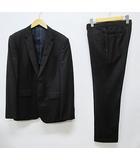 ポールスミス PAUL SMITH スーツ 美品 L 黒 シングル 2ボタン 背抜き ロロピアーナ社生地使用 セットアップ D7671 花柄裏地