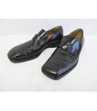 ルイヴィトン LOUIS VUITTON ローファー 9 1/2 27.5cm 黒 レザー ブラック スリッポン 紳士靴 D7691