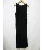 アンナモリナーリ ANNA MOLINARI ワンピース ドレス I42 D36 黒 ブラック ノースリーブ リボン ロング D7728