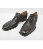 バリー BALLY ビジネスシューズ 9 1/2 US 27.5cm 茶 ブラウン 編み上げ 紳士靴 D7739