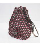 プラダ PRADA 1n1863 巾着 ミニバッグ 幾何学模様 マルチカラー
