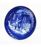 ロイヤルコペンハーゲン ROYAL COPENHAGEN イヤープレート 1994年 お父さんとお買い物 クリスマス 皿 ブルー系 ブランド食器